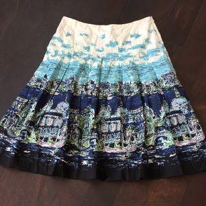 Talbots Venice Scene Abstract Print Skirt